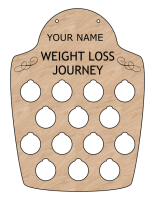 Laser engraved weight loss board