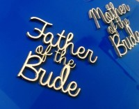 Laser cut wooden names