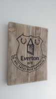 Everton football club fathers day wooden plaque