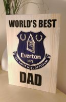 Everton football club fathers day plaque
