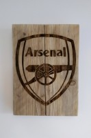 Arsenal football club wooden wall plaque