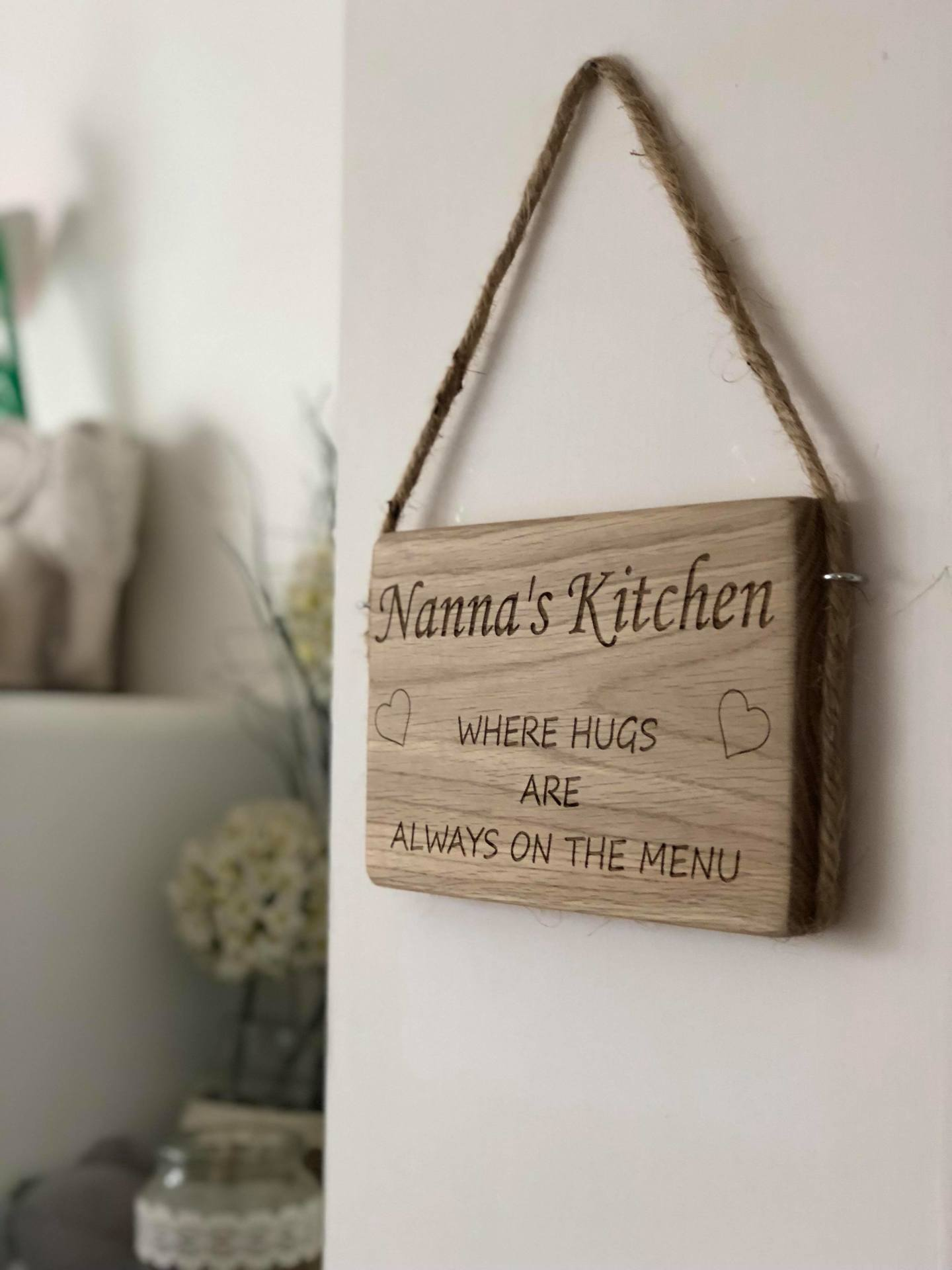 Personalised mothers day wall hanging for Nanna