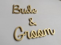 Gold laser cut wooden names