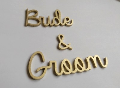Laser cut names for weddings and events