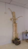 Solid wood wishing tree