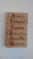 Autism awareness plaque