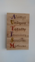 Autism awareness plaque