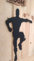 Fortnite wooden wall decal laser cut made to order