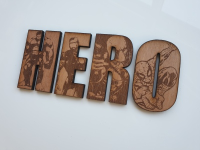 Marvel superhero letters