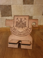 West Ham personalised phone holder