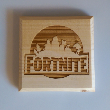 Fortnite solid wood large coaster