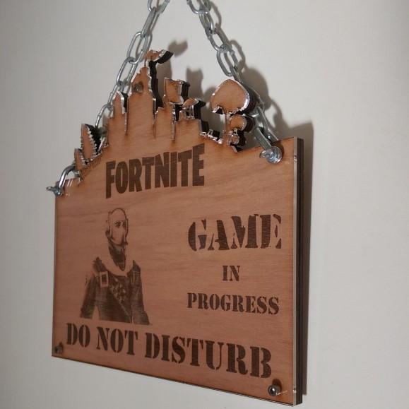 Fortnite skin character do not disturb sign