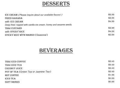 Dessert & Drinks