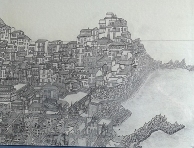 Italian hillside city