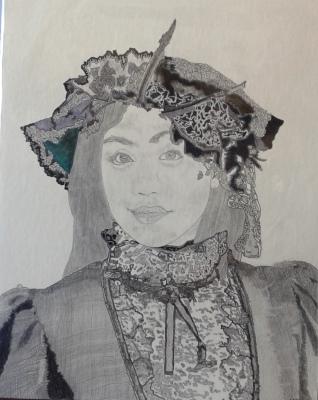 Samantha in Edwardian dress