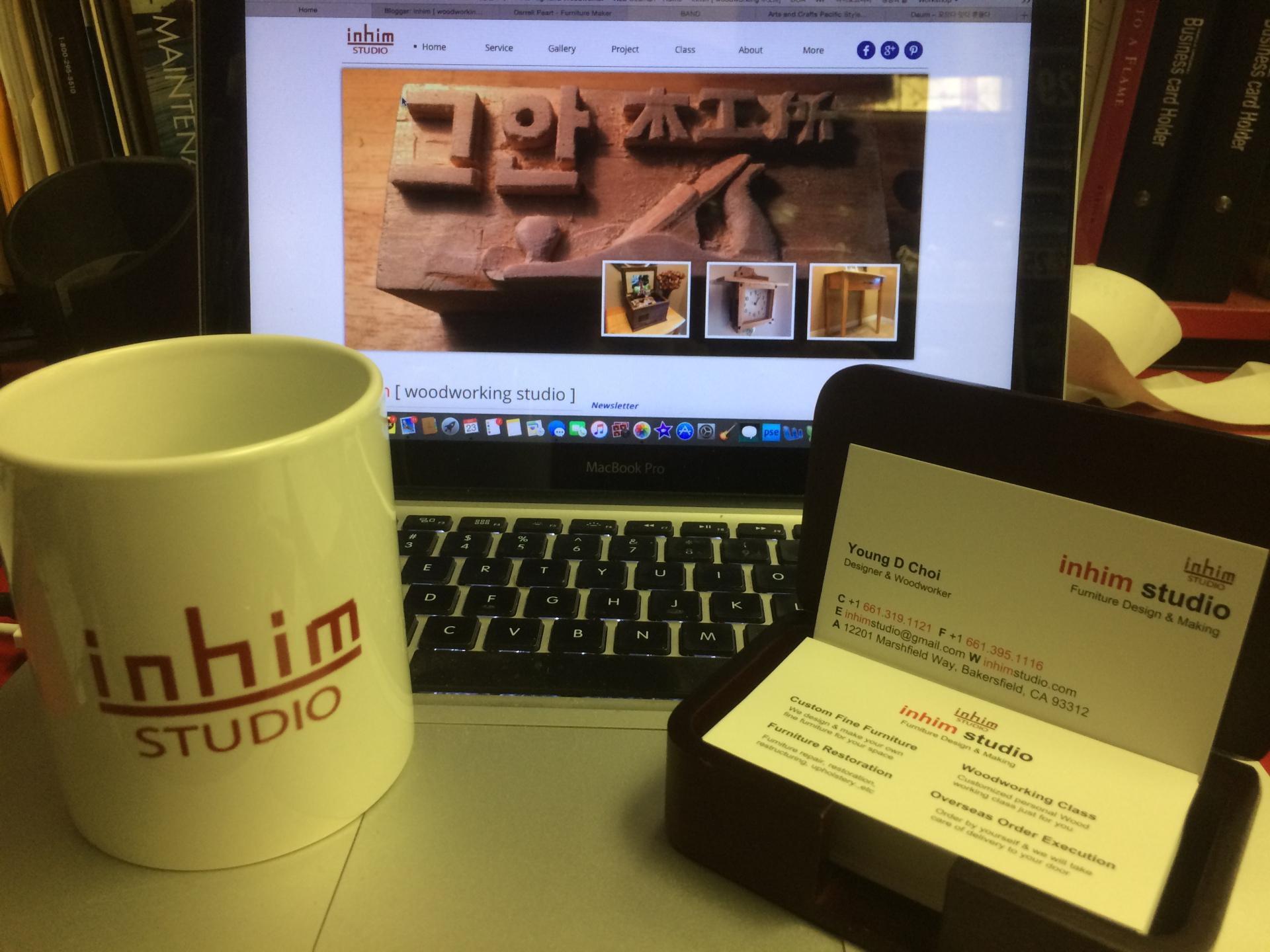 inhim studio mug cup & Biz Card
