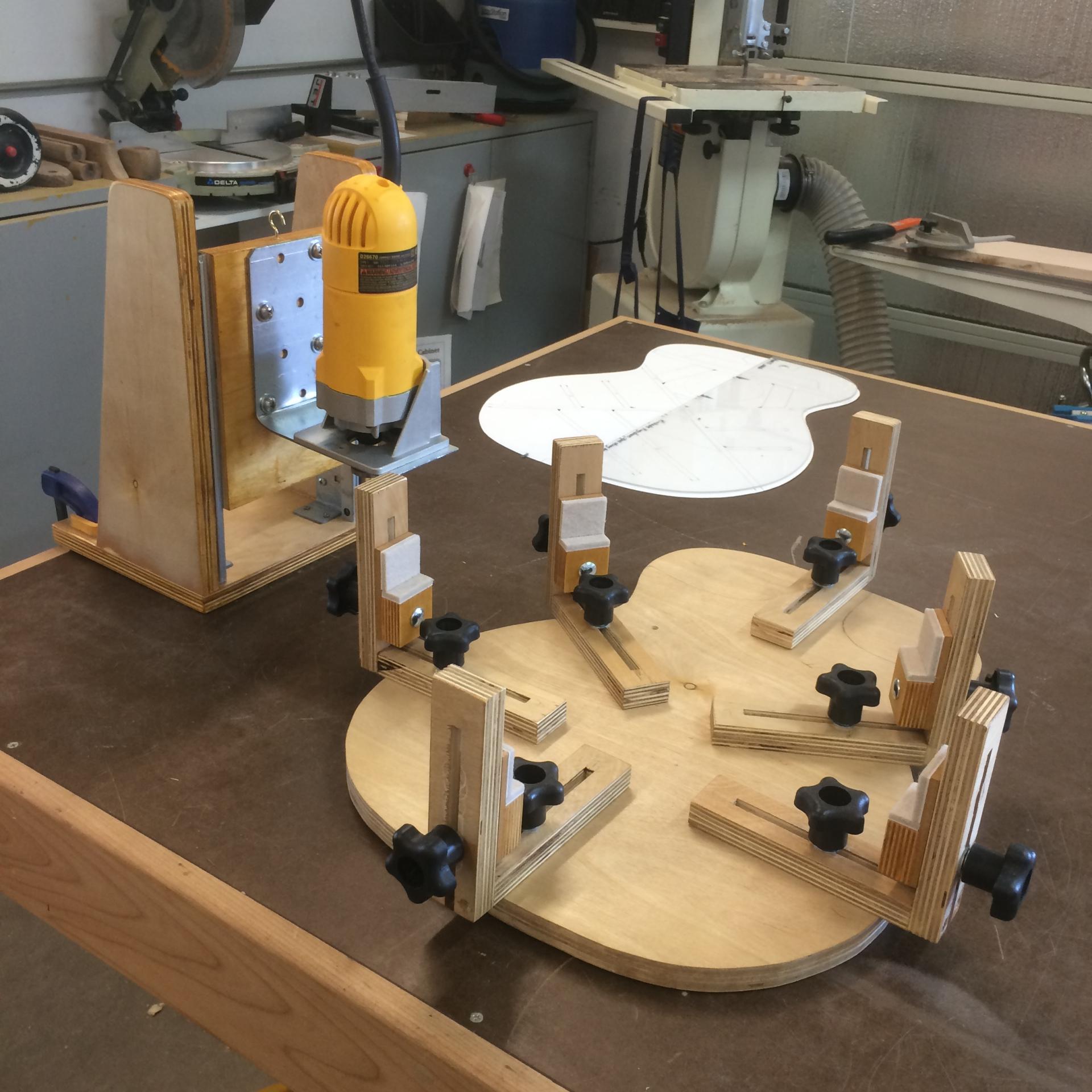 Binding Machine & Guitar Body Cradle