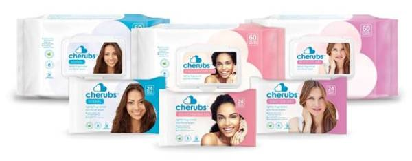 Cherubs Eco lightly fragranced Facial Wipes