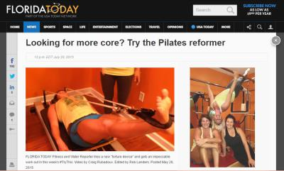 """Looking for more"" Try the Pilates reformer"" by Michelle Mulak with Florida Today"