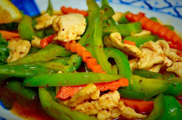 Pad Prik Khing with Chicken