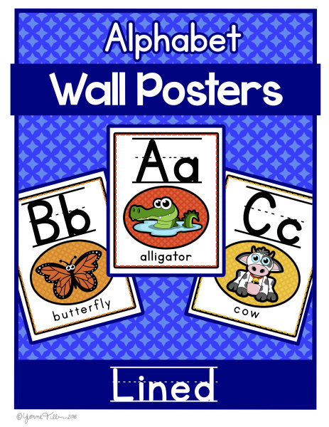 Alphabet Wall Posters- Animal Theme