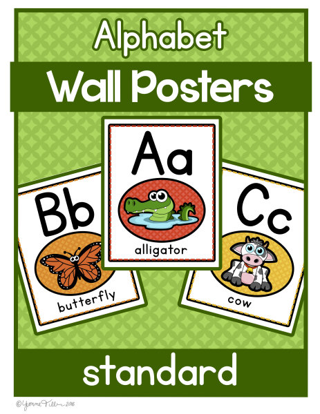 Alphabet lined Poster- Animal Theme