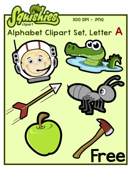 Letter A Phonics Clipart