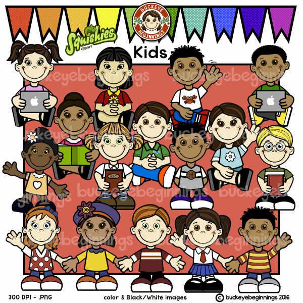Kids Clip Art Bundle 1... Adorable Squishies!!!