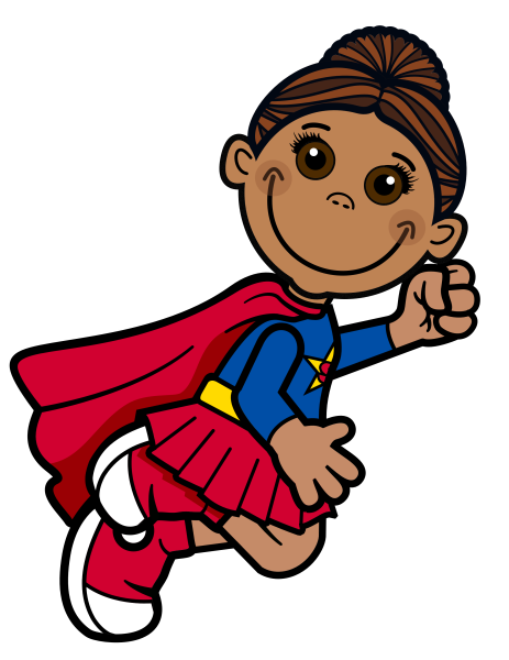 Super Girl Clip Art