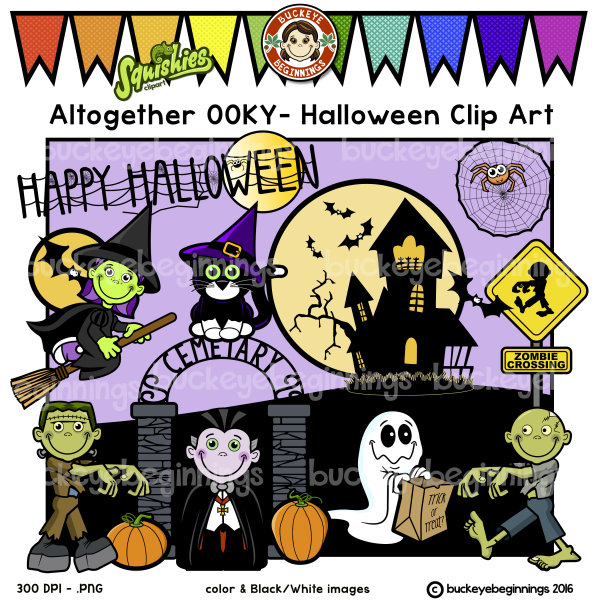 Altogether OOKY - Halloween - Clip art set
