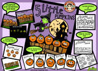 5 Little Pumpkins: Interactive Book and Activities