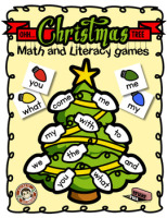 Oh Christmas Tree Math and Literacy Center Activity – Eraser Race Games