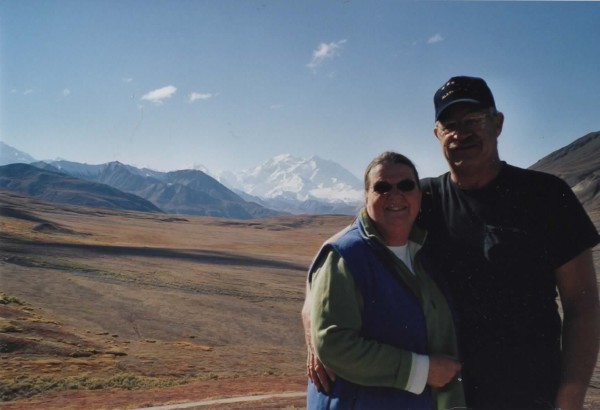 connie & tom with denali in the background