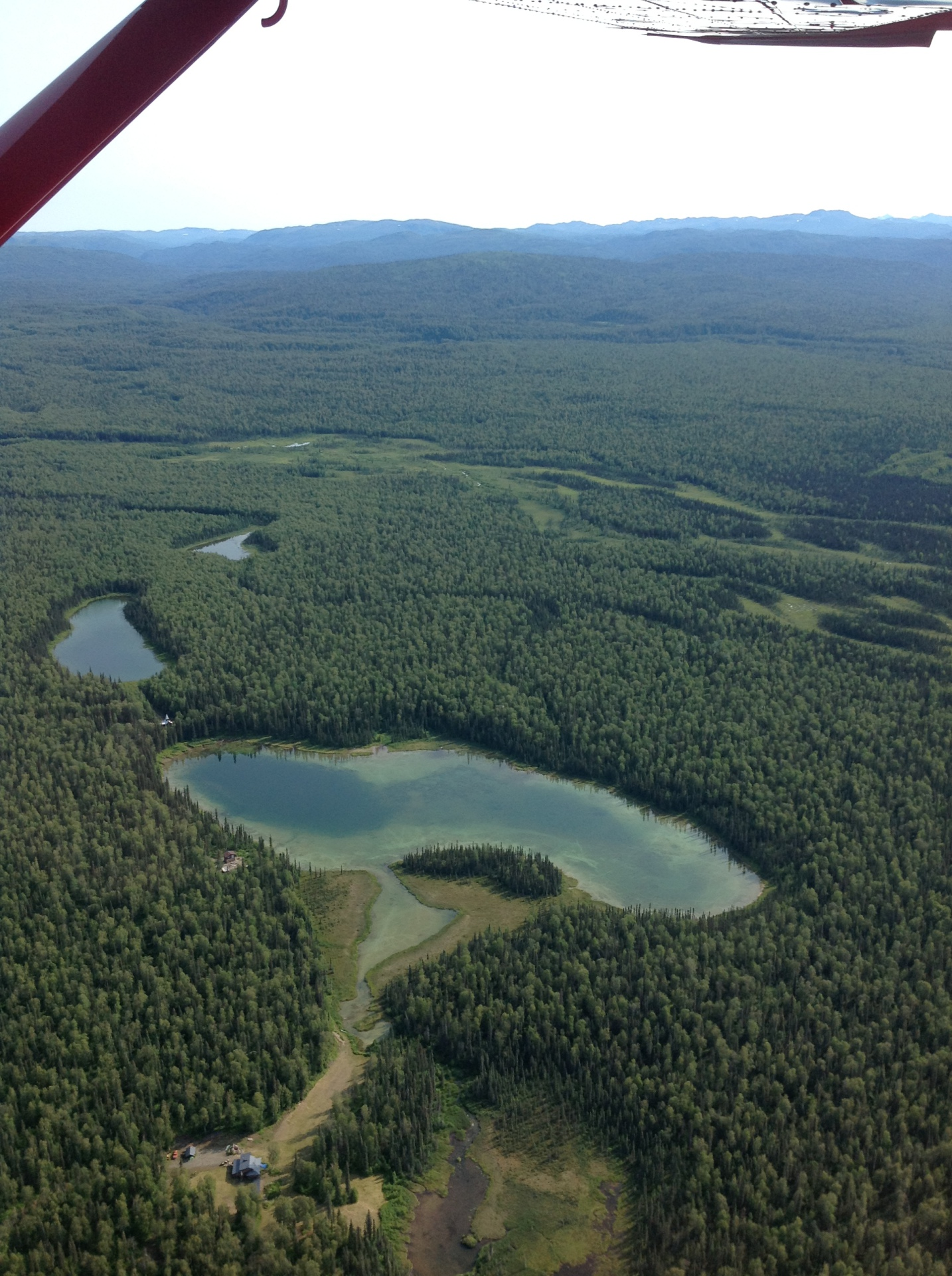 lakes from aerial view