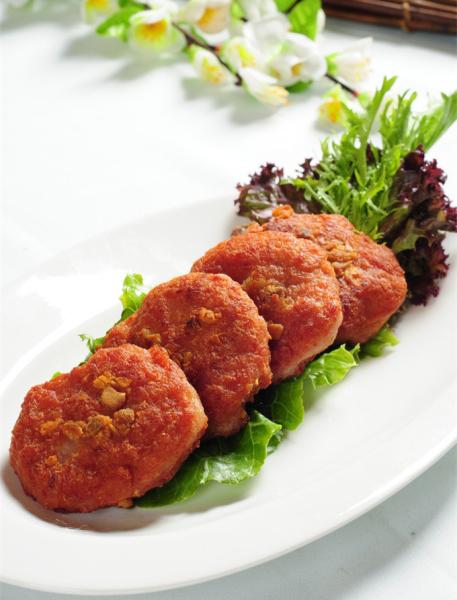 Pan Fried Patty Pork w/ Chopped Lotus