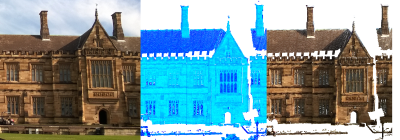 The Sydney University Great Hall lidar scan being aligned and assigned image intensities