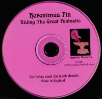 Heronimus Fin Riding The Great Fantastic Rare CD Prog Psych UK