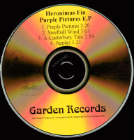 Heronimus Fin Purple Pictures EP Mega Rare CD Prog Psych UK