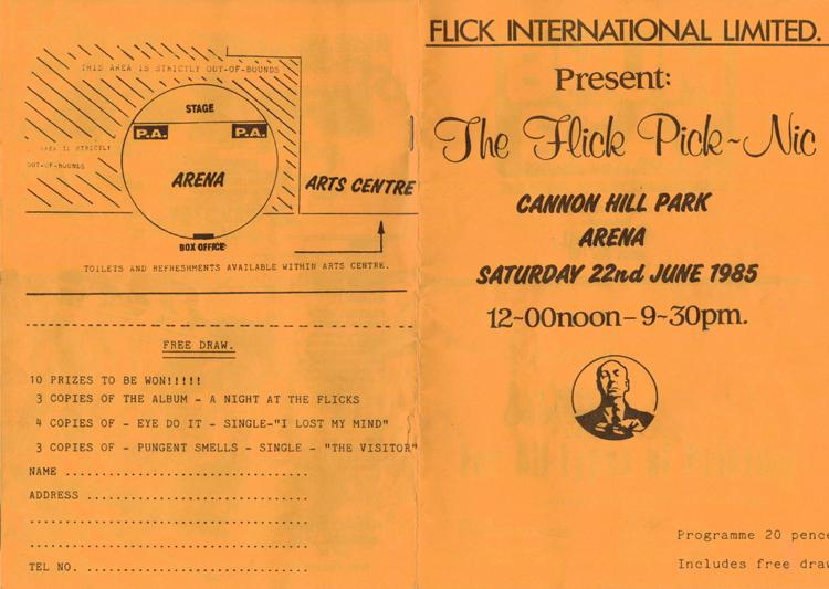 Rare Programme - Flick Pick-Nic Cannon Hill Arena 1985