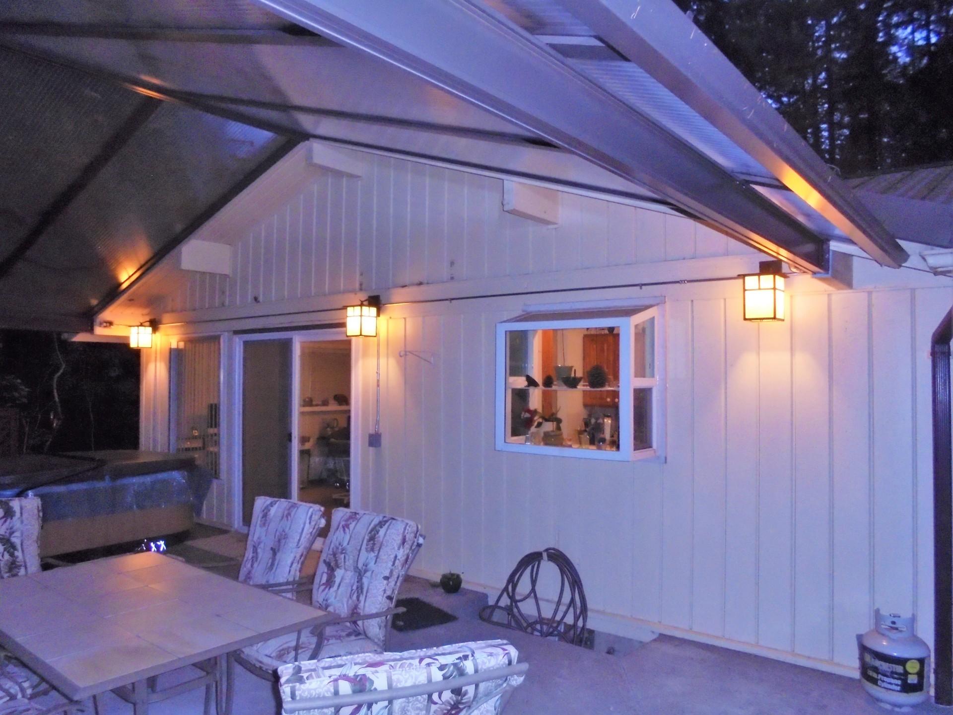 Exterior lighting, outdoor lights, outside lights, beautiful lights