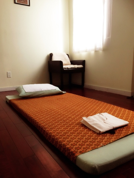 Mattress for Thai yoga massage