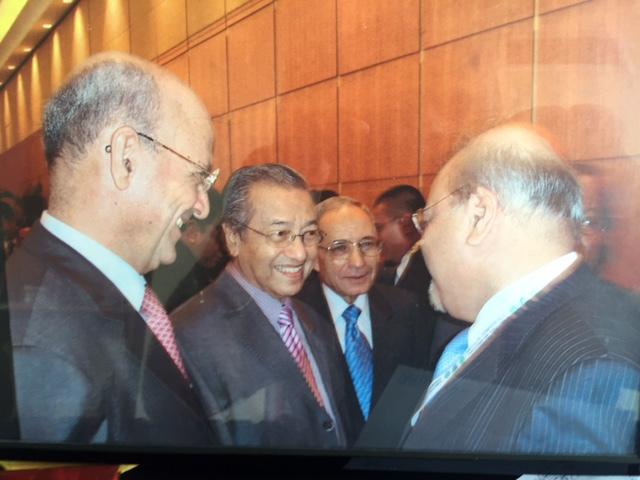 Iqbal Mankani with former Malaysian Prime Minister, Mahathir Mohamad in Kuala Lumpur