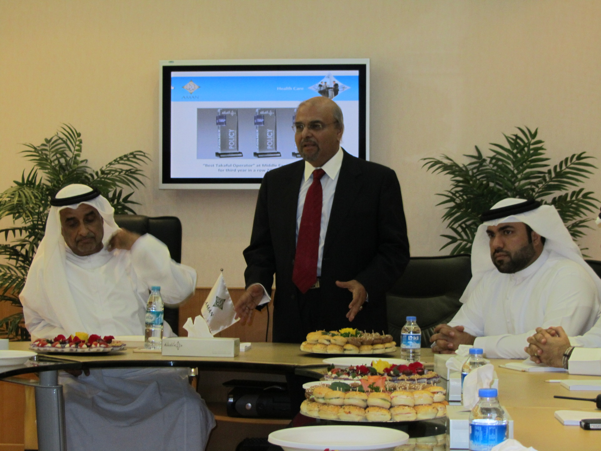 Farewell address to the Board at Aman Insurance, UAE