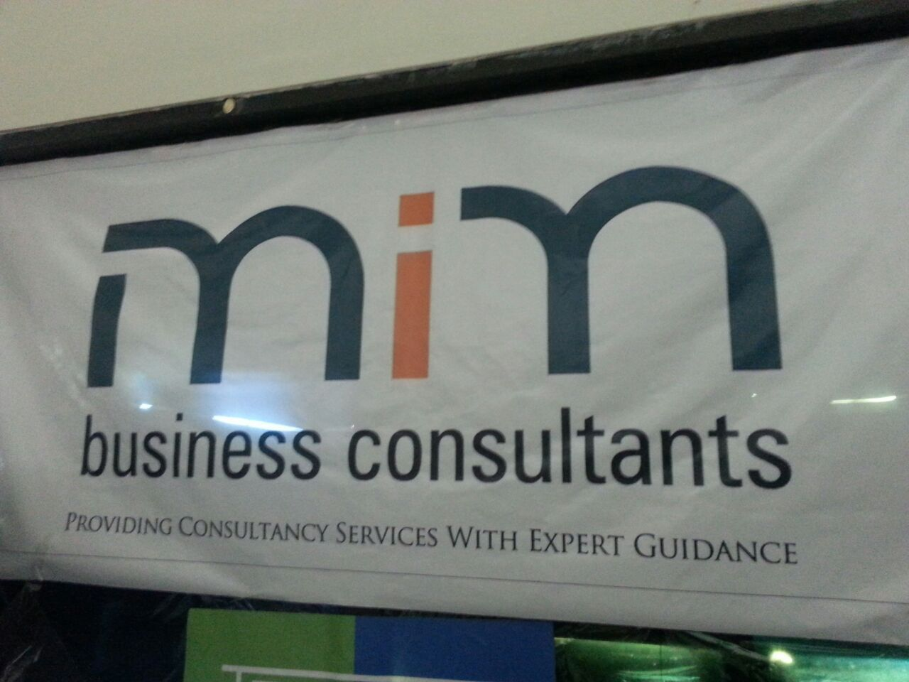 MIMBC banner at an event addressing entrepreneurs & business leaders