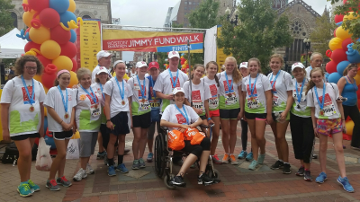 Anna with her Jimmy Fund Walk Team