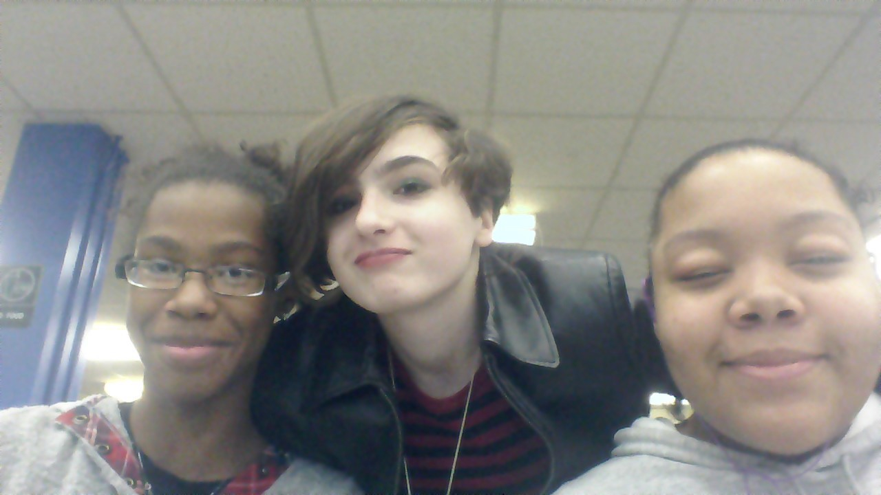 Me and my friends at the library