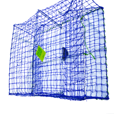 Blue Mesh Rectangular Crab Pot