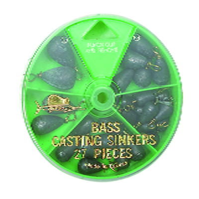 27 Bass Sinker Pack - Green