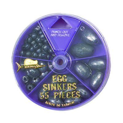 55 Egg Sinker Pack - Purple