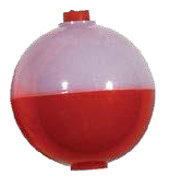 Red & White Bobber Float 2""